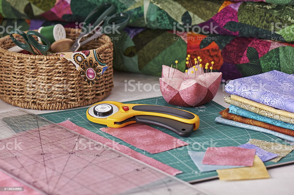 Accessories for patchwork stock photo