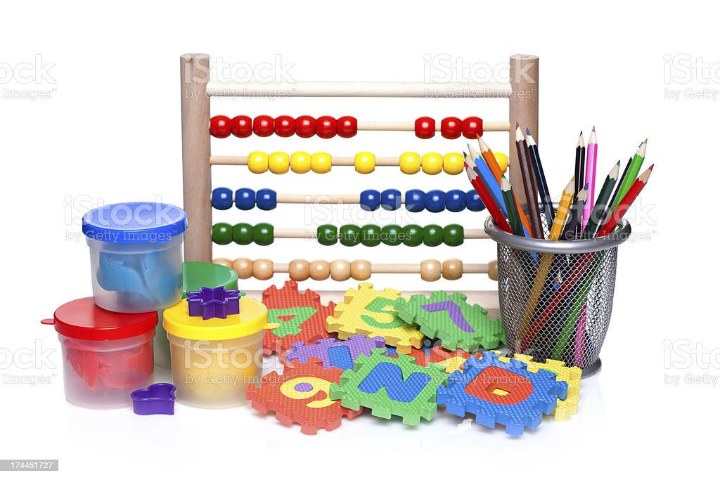 accessories for preschool royalty-free stock photo