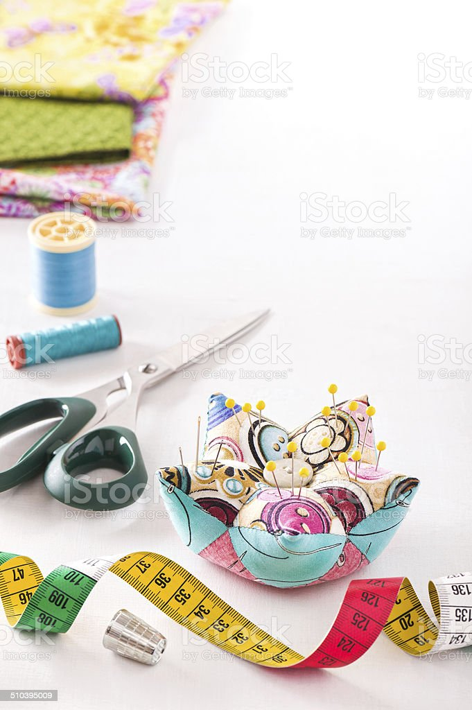 Accessories for sewing stock photo