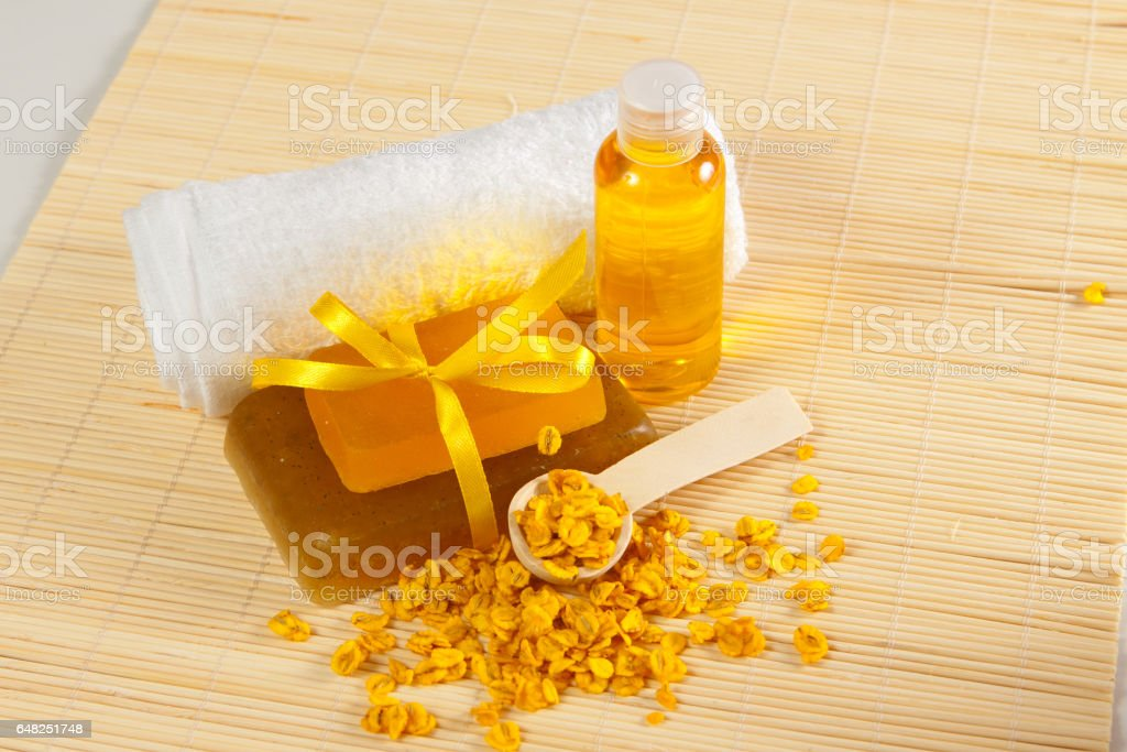 accessories for spa stock photo