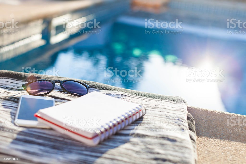 Accessories for summer stock photo