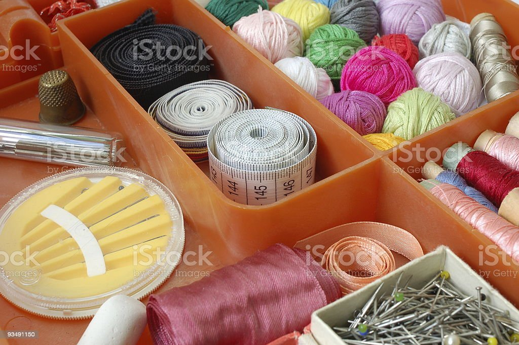 Accessories for tailoring royalty-free stock photo