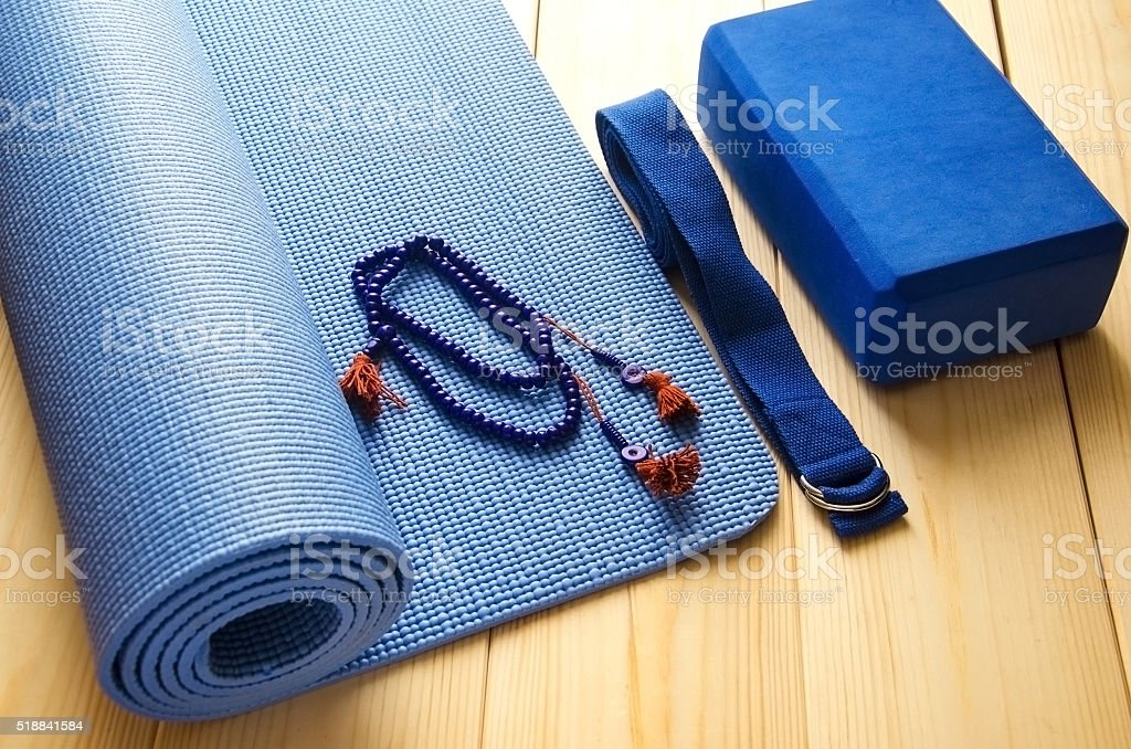 Accessories for yoga stock photo