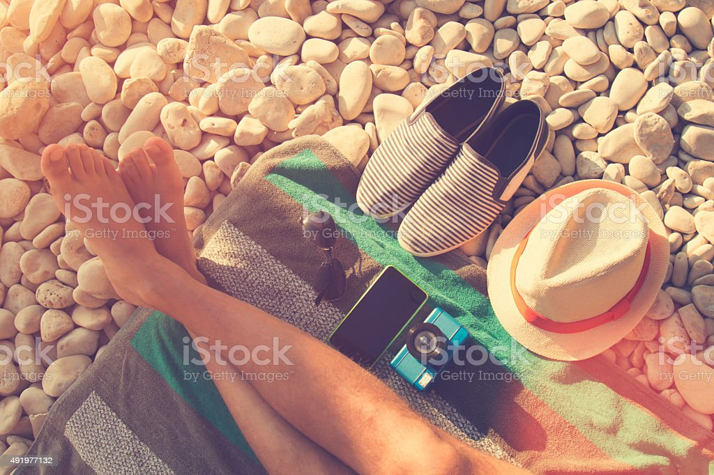 Accessories of a hipster. stock photo