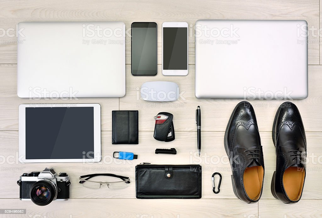Accessories to make a business person stock photo