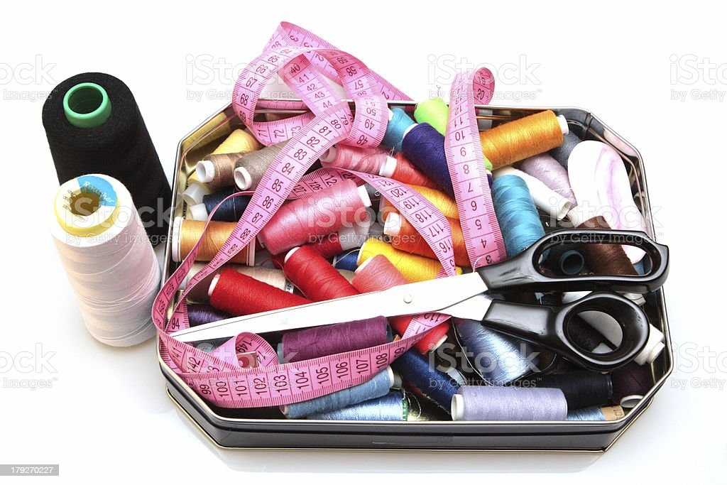 accessories to sewing royalty-free stock photo
