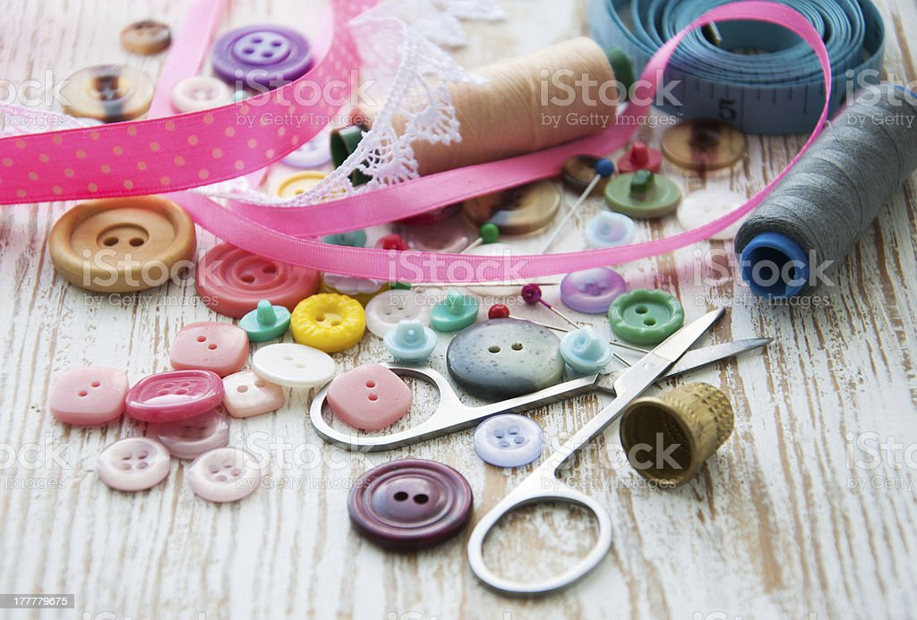 Accessory of the tailor royalty-free stock photo