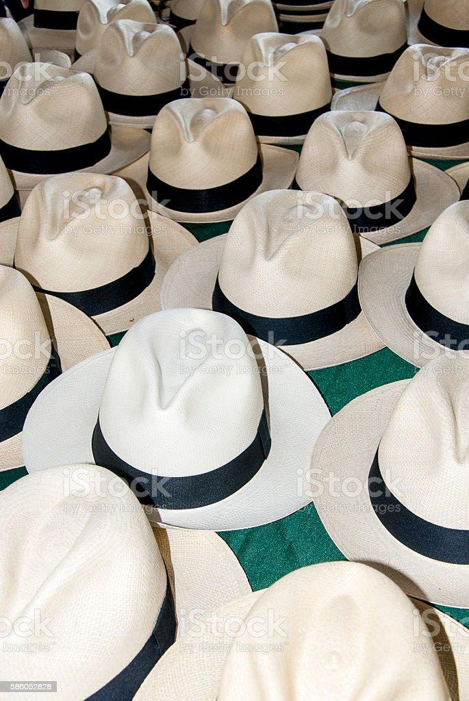 Accessory - Panama Hats stock photo