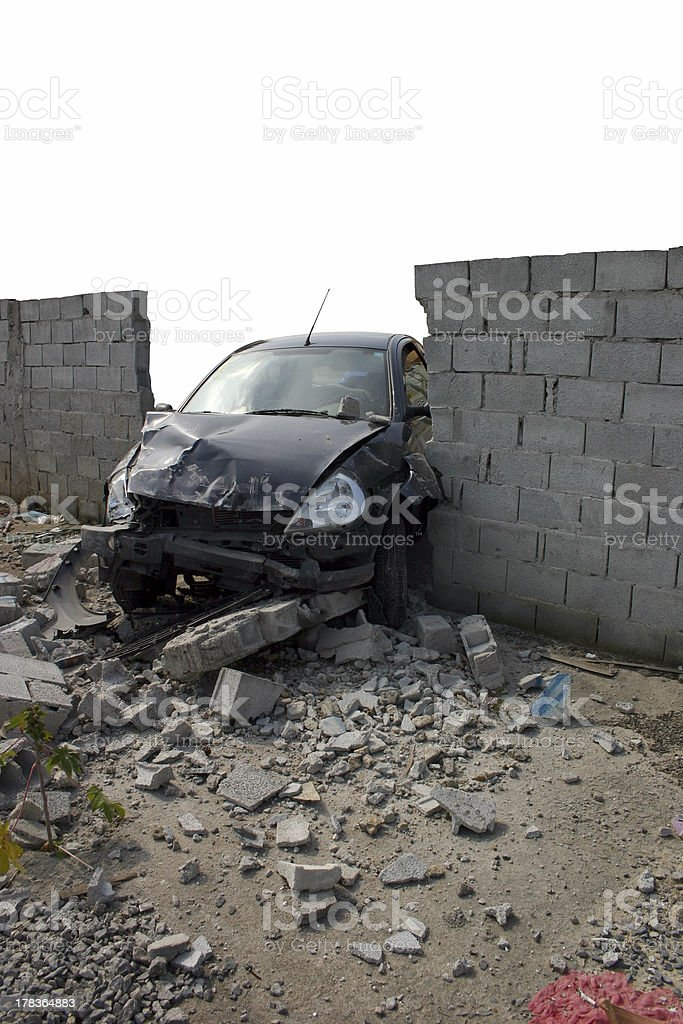 Accident 2 - Drunk crash test stock photo