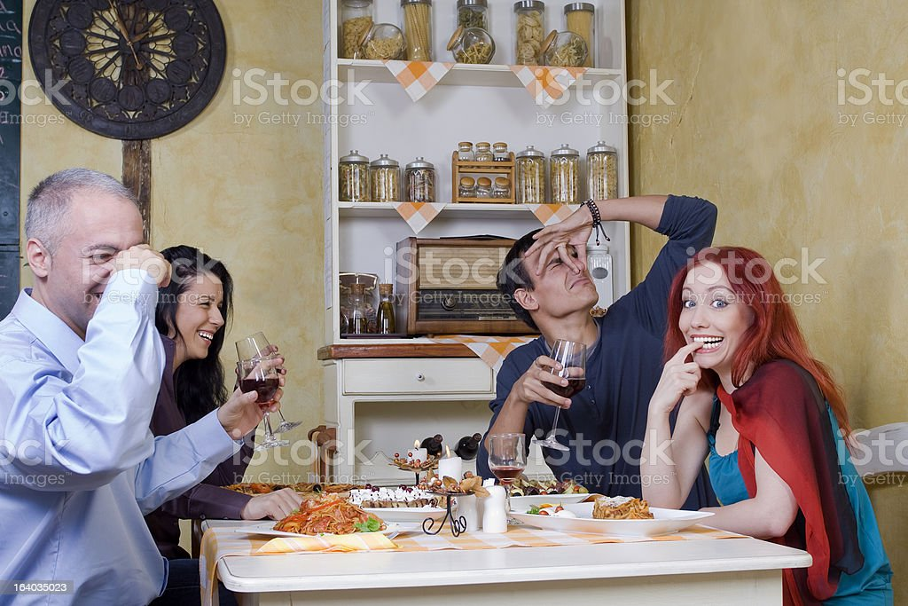 Accident at a restaurant stock photo