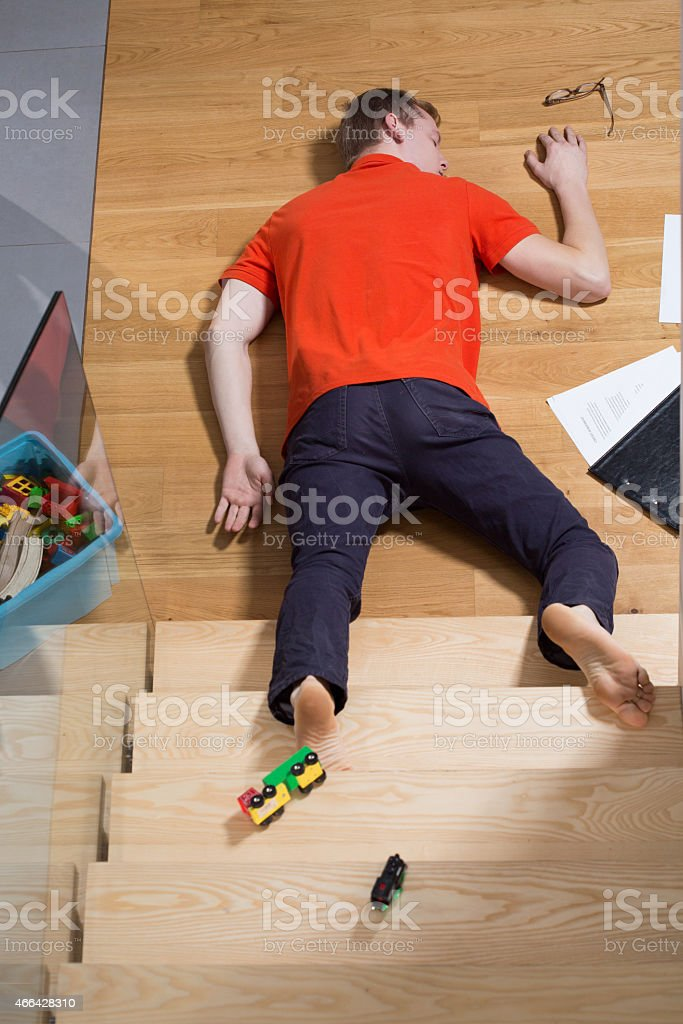Accident at home stock photo