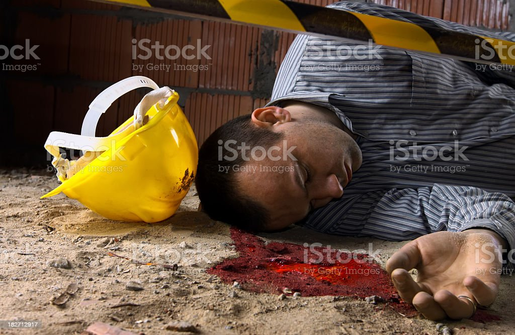 Accident at the construction site royalty-free stock photo