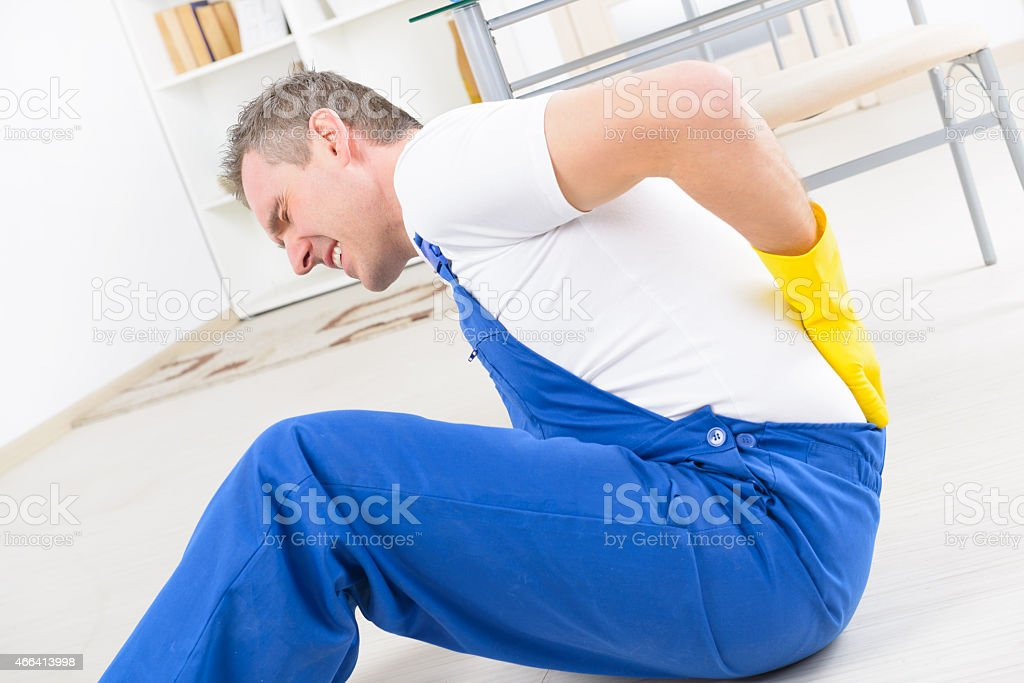 Accident at work stock photo