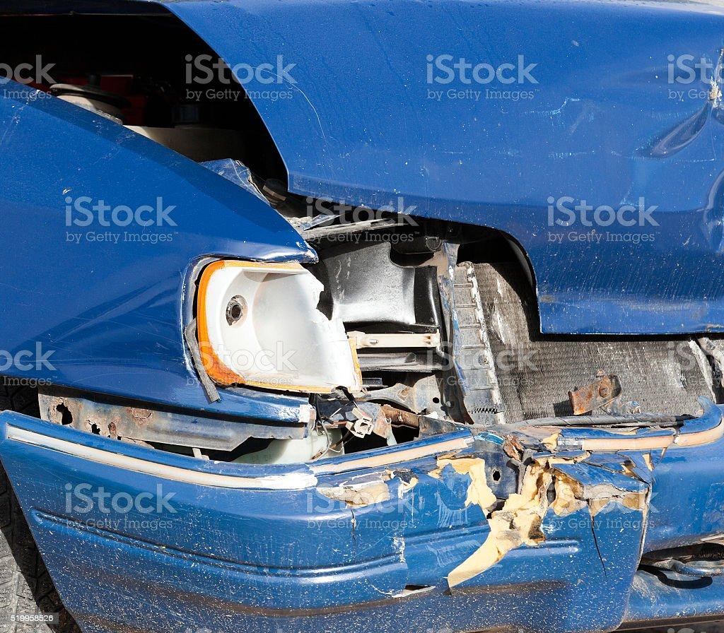 accident broken car stock photo