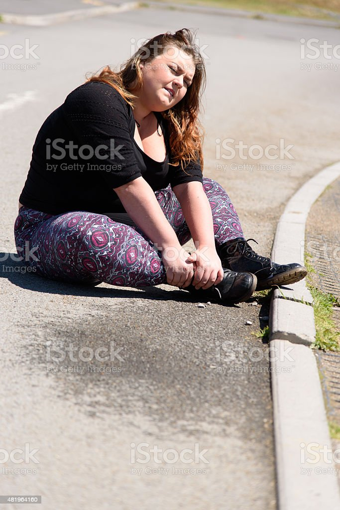 Accident in Street stock photo