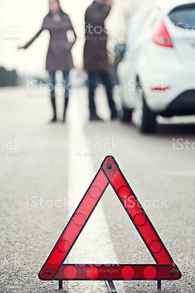 Accident on a road royalty-free stock photo