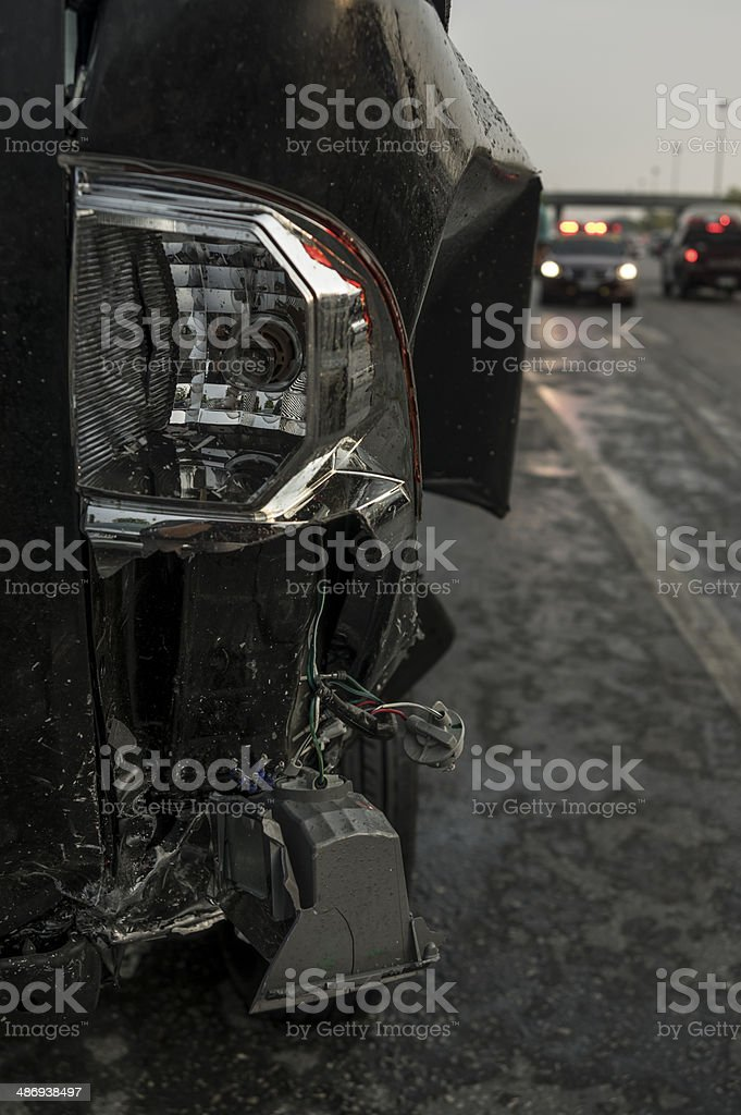 Accident on the road royalty-free stock photo