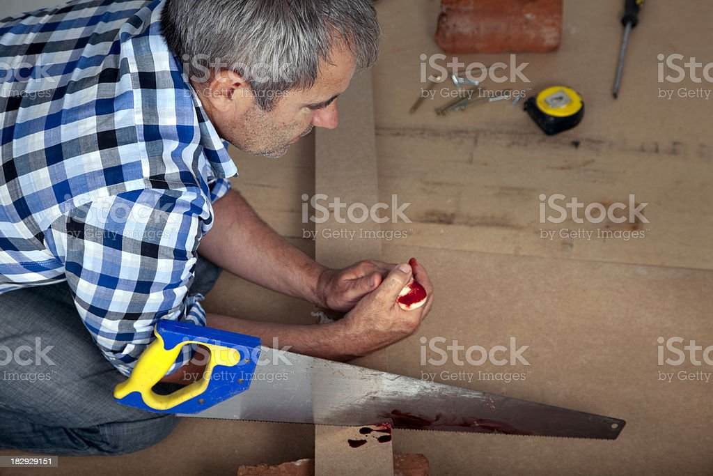 DIY Accident royalty-free stock photo