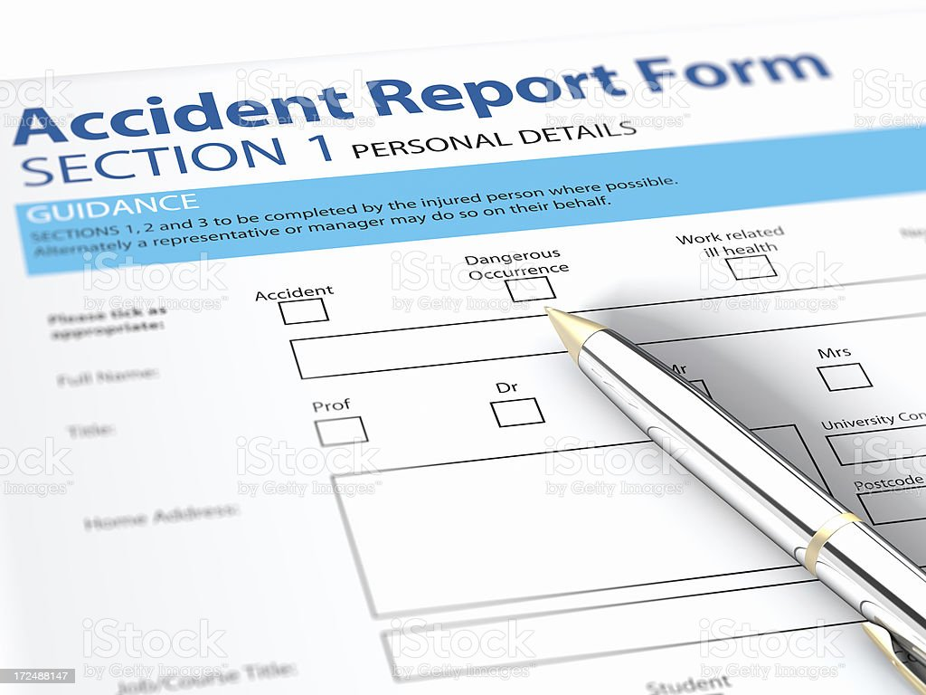 Accident Report Form royalty-free stock photo