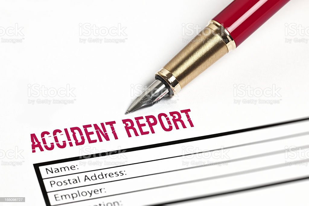 Accident Report Paper royalty-free stock photo