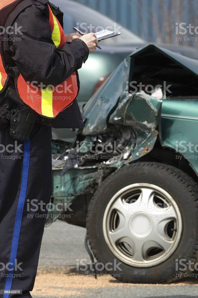 Accident Scene stock photo