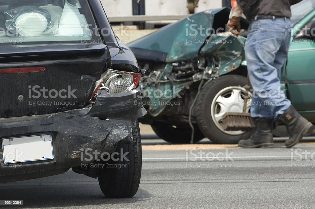 Accident Scene royalty-free stock photo