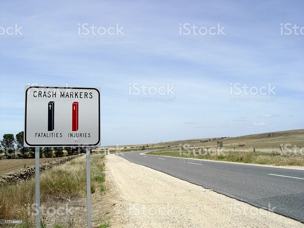 Accident sign royalty-free stock photo