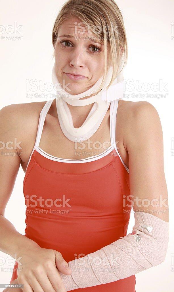 Las víctimas de accidentes foto de stock libre de derechos