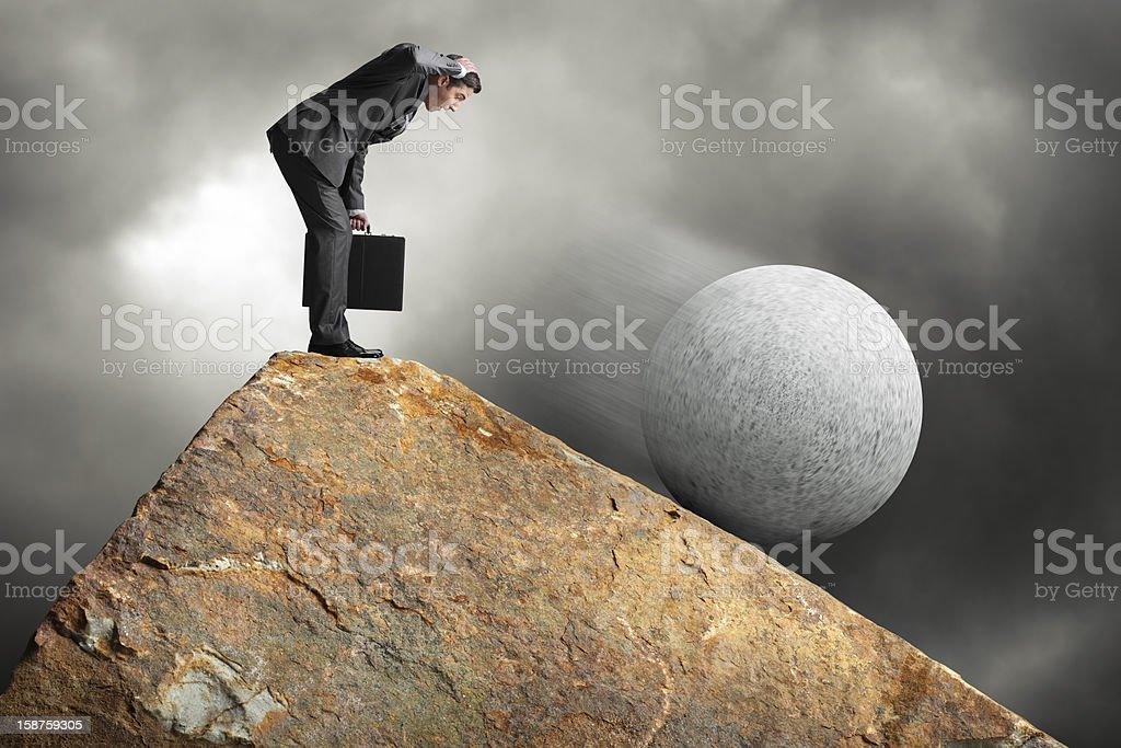 Accident Waiting To Happen stock photo
