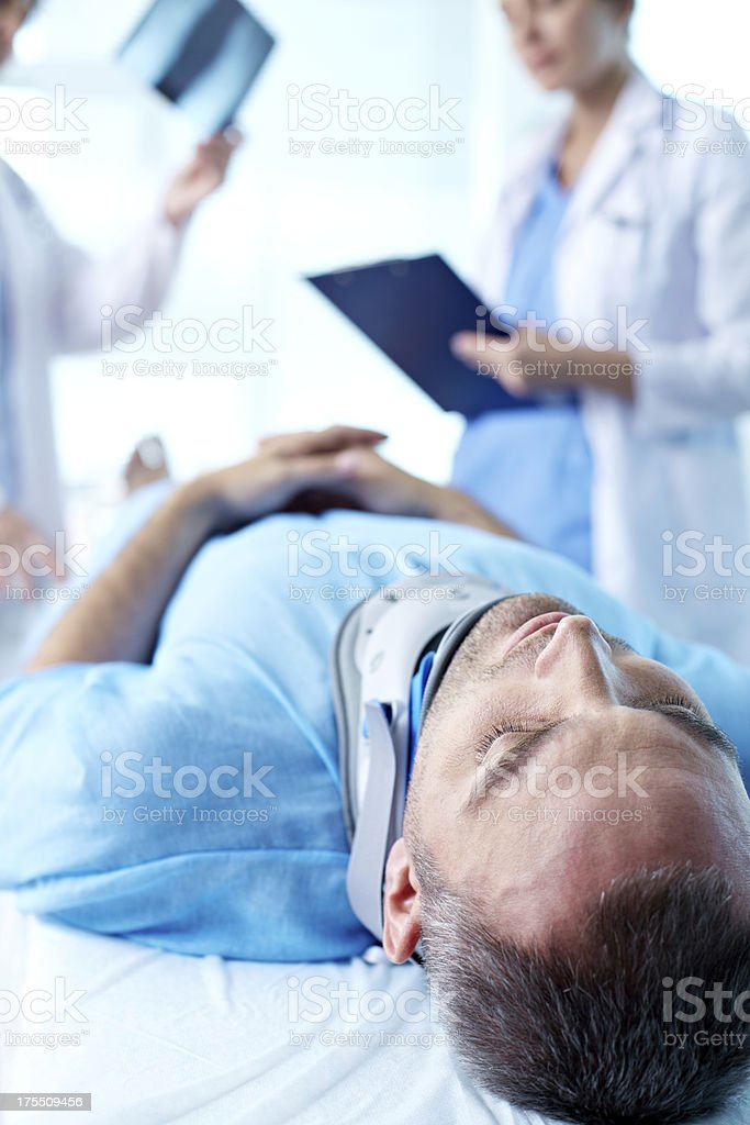 Accident with fracture royalty-free stock photo