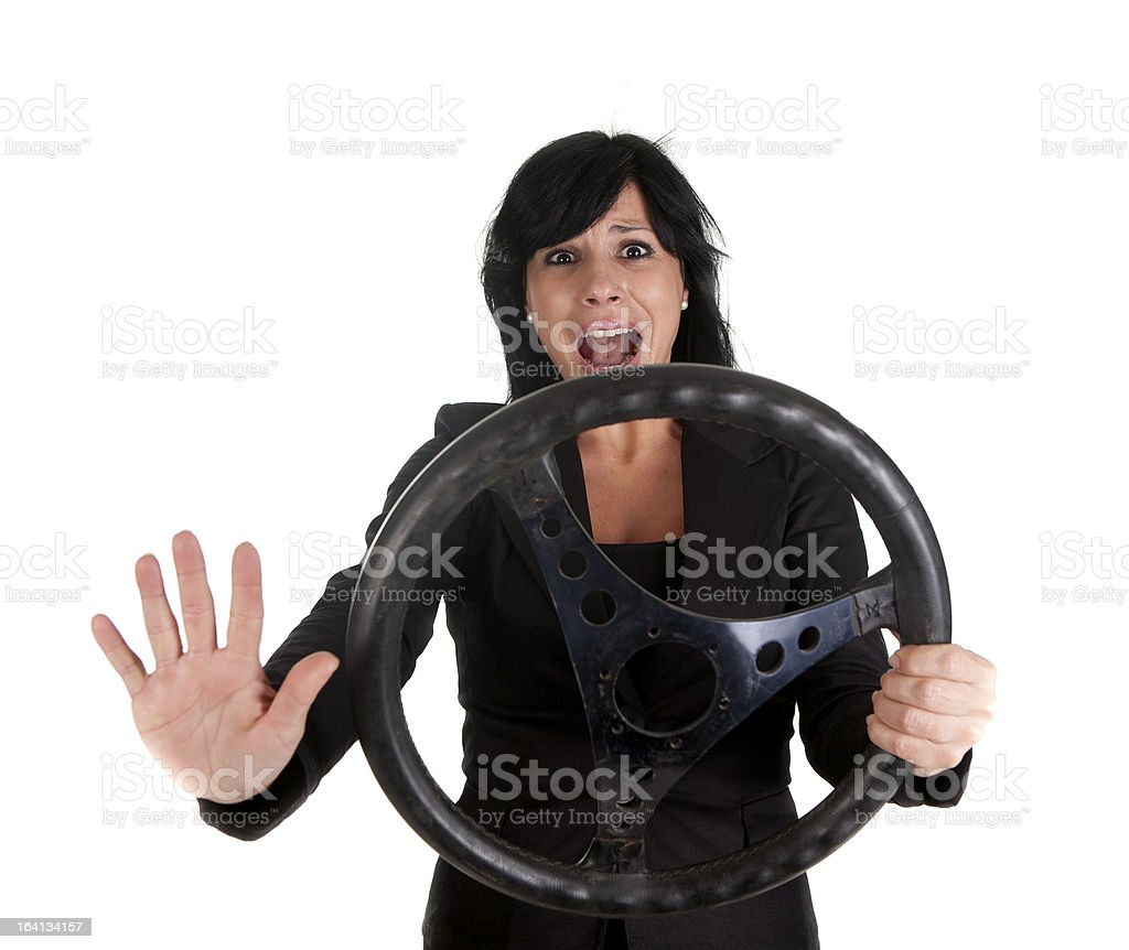 accident woman royalty-free stock photo