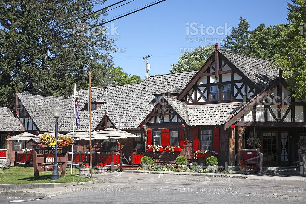 Accomodations In Small Town America stock photo