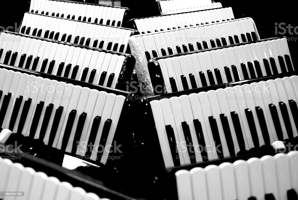 accordion black and white royalty-free stock photo