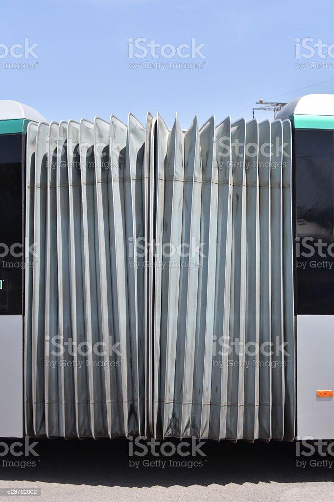 Accordion bus stock photo