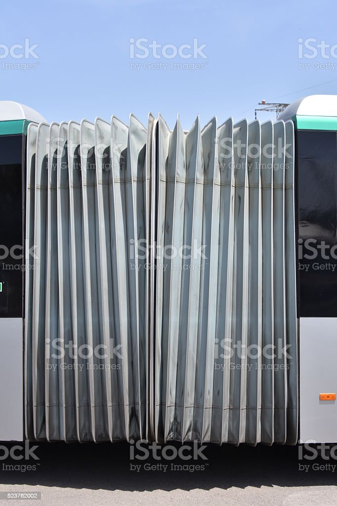 Accordion bus stock photo