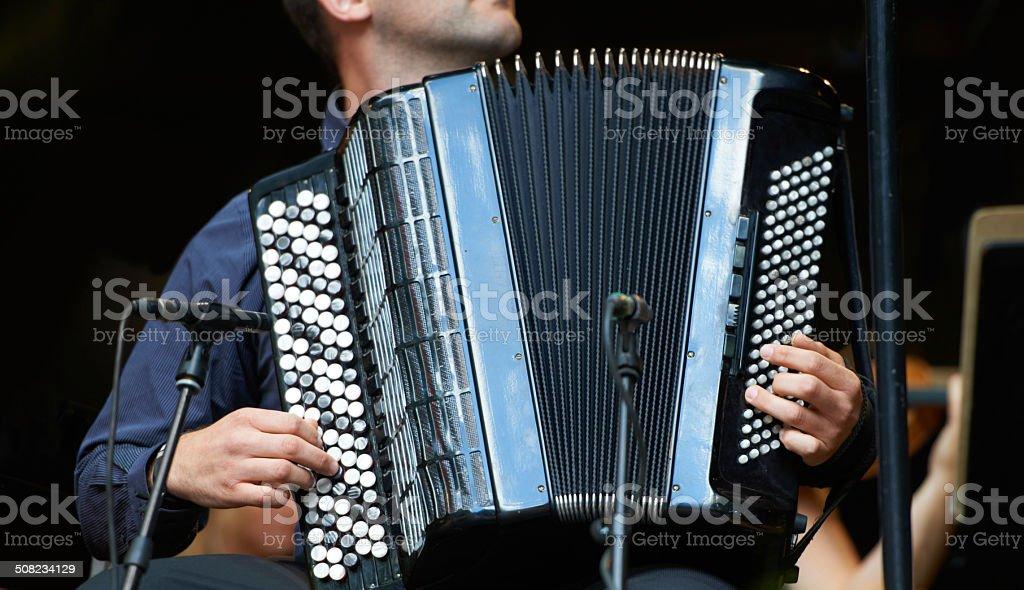 Accordion harmony stock photo