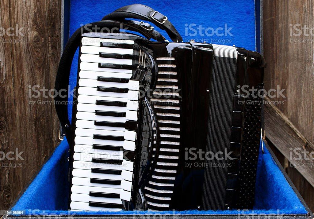 Accordion in a Box stock photo