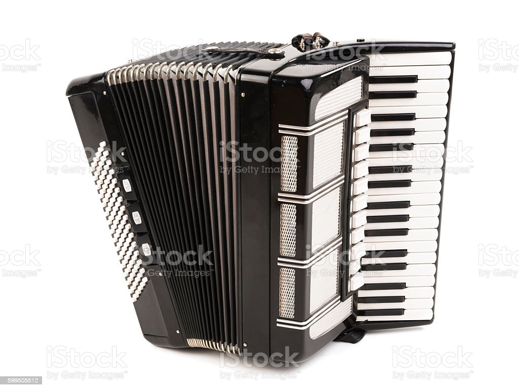 Accordion Isolated stock photo