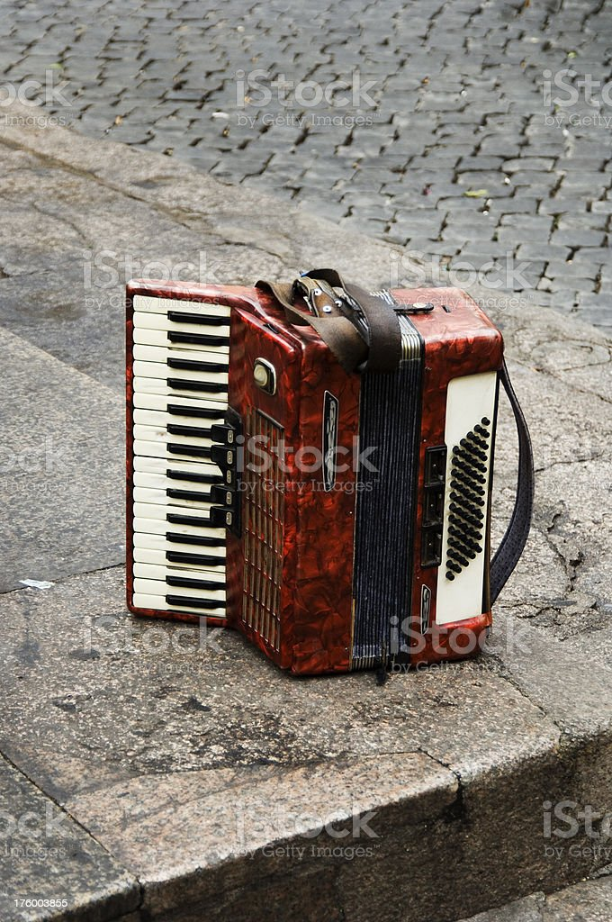 Accordion on the Corner royalty-free stock photo