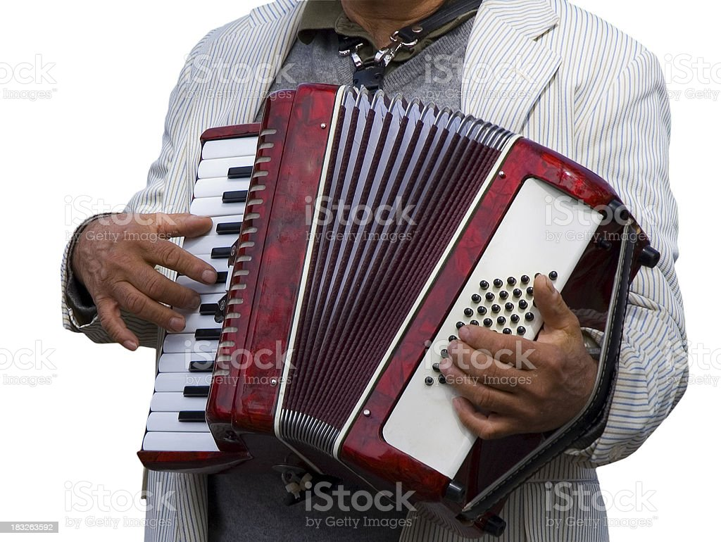 Fisarmonica Player foto stock royalty-free