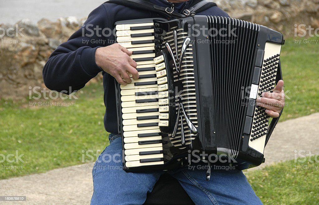 Accordion Player stock photo