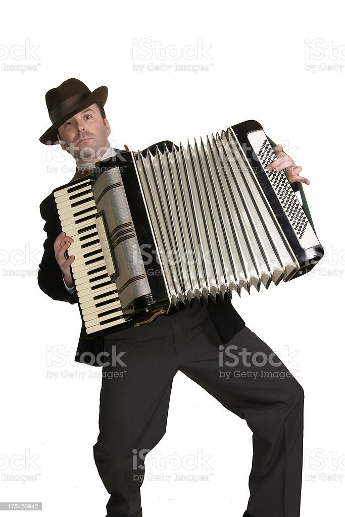 Accordion with Attitude stock photo