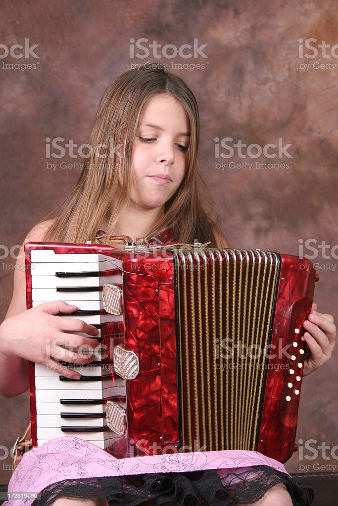 Accordionist royalty-free stock photo