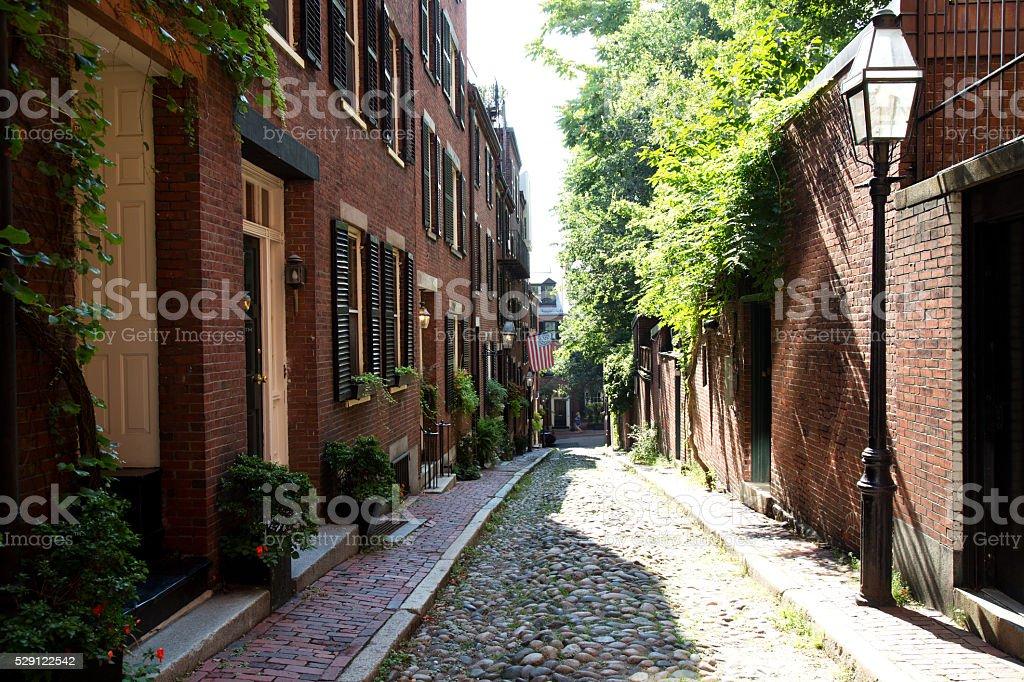 Accorn Street, Boston stock photo