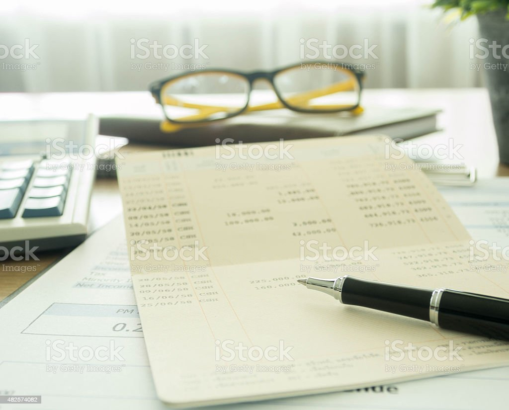 account and finance stock photo