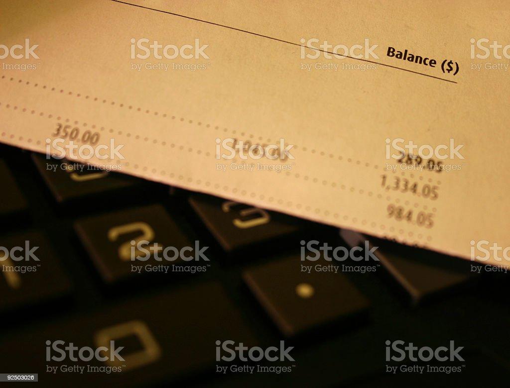 account ballance 4 royalty-free stock photo