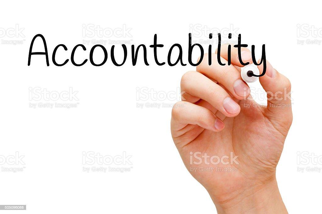 Accountability Black Marker stock photo