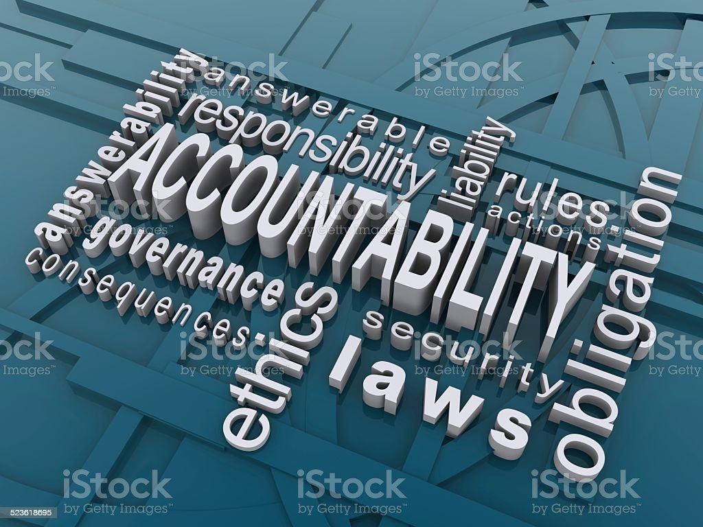 accountability stock photo