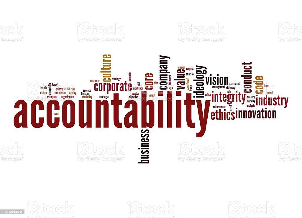 Accountability word cloud stock photo