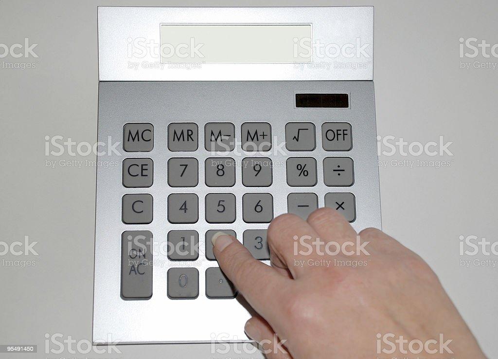 accountancy, calculator, mathematics, finger stock photo